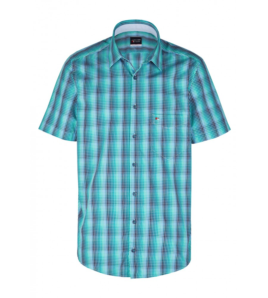 Modernes Hemd im Karo-Look Kurzarm JC90009-52111-455 front