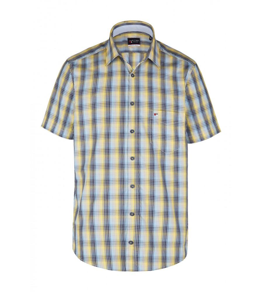 Modernes Hemd im Karo-Look Kurzarm JC90009-52111-554 front