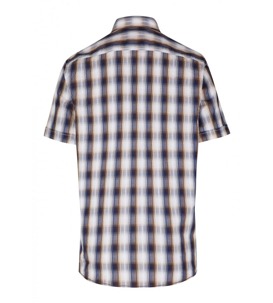 Modernes Hemd im Karo-Look Kurzarm JC94002-52111-256 back