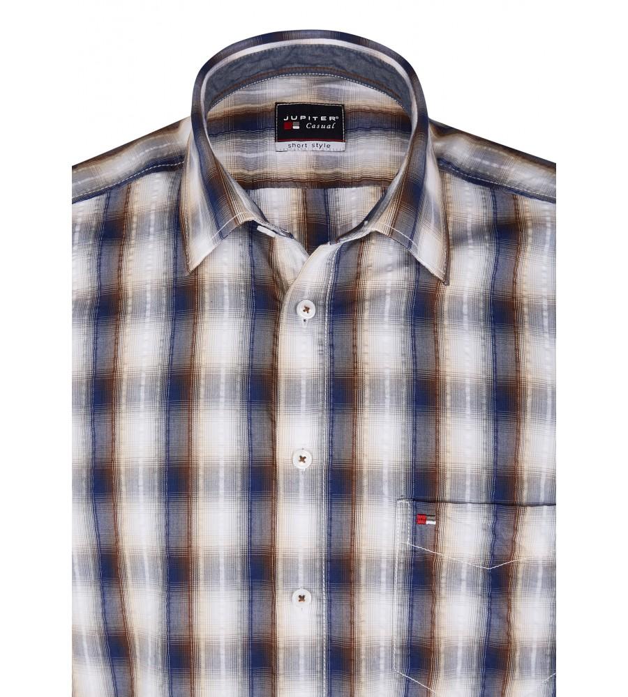Modernes Hemd im Karo-Look Kurzarm JC94002-52111-256 detail1